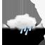 stark bewölkt, leichter Regen