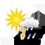 sunny spells, thunderstorms