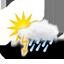 zwaar bewolkt, onweer 2019-08-19 21:00:00