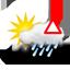 intervalos nubosos, llovizna con alerta de hielo negro