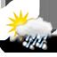 nuageux, fortes averses hivernales