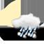 broken cloud, heavy wintry showers