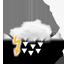 zwaar bewolkt, zwaar onweer met hagel