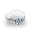 cloudy, rain shower 2020-03-28 18:00:00