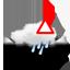 zwaar bewolkt, aanvriezende neerslag