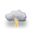 overcast, risk of thunderstorms 2018-07-21 01:00:00