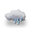 bedeckt, leichter Regen 2013-05-20 13:00:00