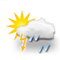 sunny intervals, thunderstorm